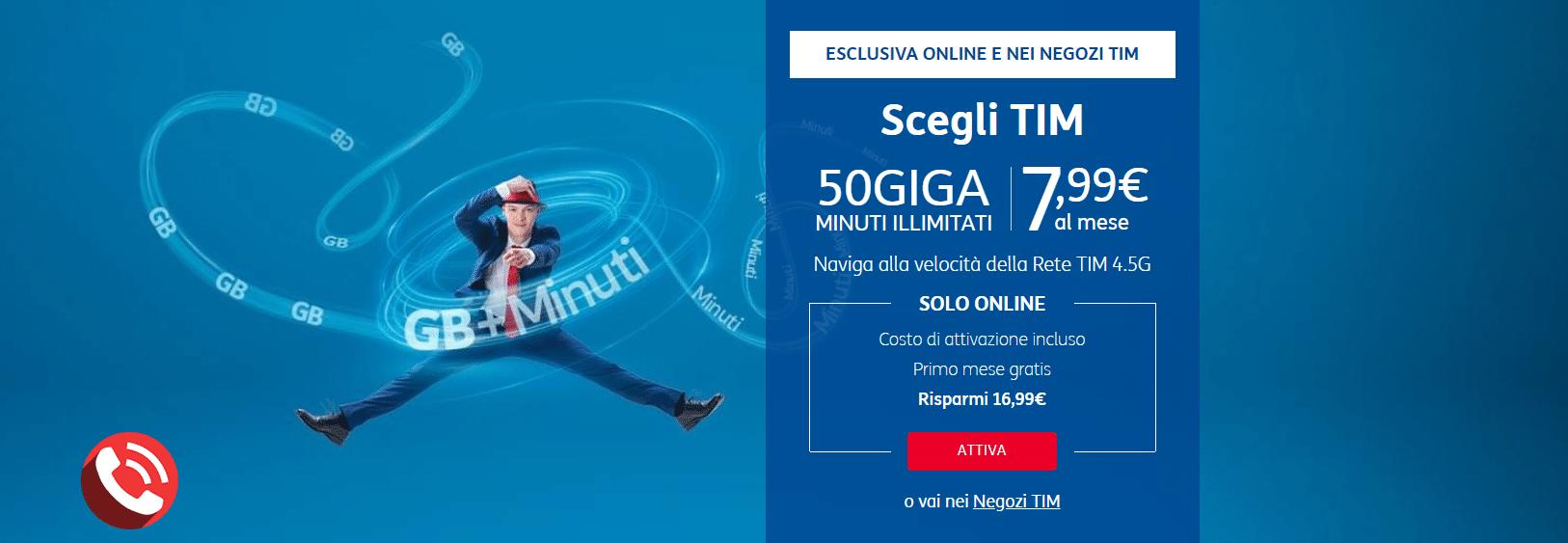 Passa a TIM STEEL con minuti illimitati e 50 giga a 7,99 € mese da WIND